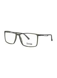 Zainia Full-Rim Rectangle Grey Computer Glasses Unisex, with Blue Light Filter, Clear Lens, ZNF-Z1140-010-BC, 57/16/140