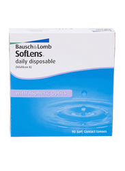 Bausch & Lomb Soflens Daily Pack of 90 Contact Lenses, Natural, -6