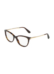 Dolce & Gabbana Full Rim Cat Eye Havana Frame for Women, DG3258-502, 52/17/140