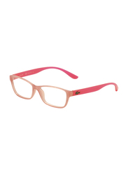 Lacoste Full-Rim Rectangle Rose Pink Computer Glasses for Kids, with Blue Light Filter, Clear Lens, 8-13 Years, LA-L3803B-662-51-BC, 51/14/135