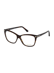 Tom Ford Full Rim Square Havana Frame for Women, FT-551205254, 54/14/140