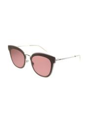 Jimmy Choo Full Rim Square Gold Sunglasses for Women, Pink Lens, JM-NILE/S-S0J632M, 63/12/140