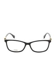 Fendi Full Rim Rectangle Black Frame for Women, FN-0331-8075415, 54/15/145
