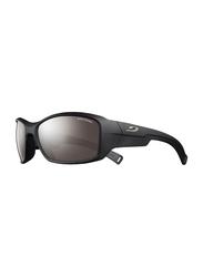Julbo Romy Full-Rim Rectangle Matte Black Sunglasses for Kids, with Blue Light Filter, Spectron 3 Black Lens, 8-12 Years, JBF-ROOKIEJ4201122, 57/17/120