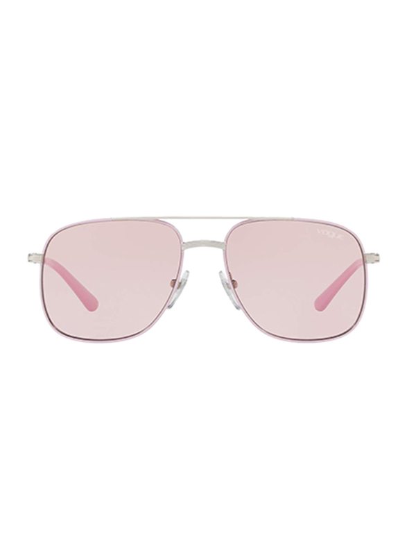 Vogue Full Rim Square Pink Sunglasses for Women, Pink Lens, VO4083S-323/5, 56/16/135
