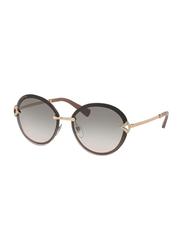 Bvlgari Full Rim Oval Brown Sunglasses for Women, Grey Gradient Lens, BV6101B-20373B, 61/15/135
