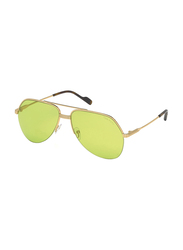 Tom Ford Full Rim Aviator Gold Sunglasses for Men, Yellow/Green Lens, FT-064432N62, 62/15/140