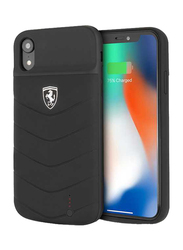 Ferrari Apple iPhone XR 4000mAh Off Track Full Cover Power Rubber Back Case, Black