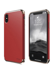 Elago Apple iPhone X Empire Plastic Back Case, Rose Gold and Red