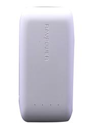 RAVPower 6700mAh Power Bank with iSmart 2.0 Technology, White