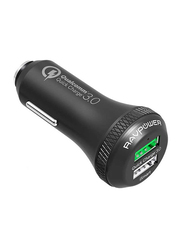 Rav Power Dual Port Quick Charge 3.0 Car Charger, Black