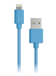 Powerology 1.2 Meter PVC Lightning Cable, USB A Male to Lightning for Apple Phone/Tablet, Blue