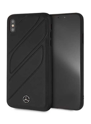 Mercedes-Benz Apple iPhone XS Max New Organic I Genuine Leather Hard Case, Black