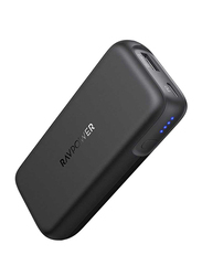 Rav Power 10000mAh 2-Port PD Power Bank with USB Type-C Input, 29W, Black
