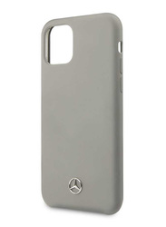 Mercedes-Benz Apple iPhone 11 Pro Liquid Silicone Mobile Phone Case Cover, Grey