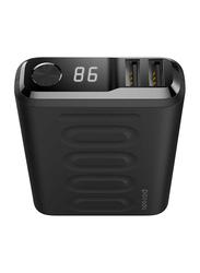 Porodo 10000mAh PD 18W QC3.0 Fast Charging Power Bank, Black