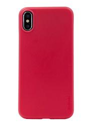 Memumi Apple iPhone X Slim Series Back Case, Red