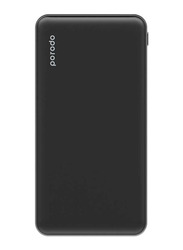 Porodo 10000mAh Super Slim Fashion Series PD Power Bank with USB Type-C Input, Black