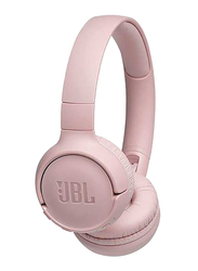 JBL T500 Wireless On-Ear Headphones, with Mic, Pink
