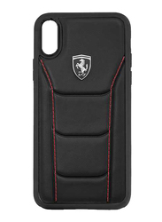 Ferrari Apple iPhone XR Heritage 488 Genuine Leather Hard Back Case, Black