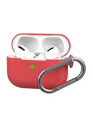 AhaStyle Keychain Full Silicone Case for Apple AirPods Pro, Red