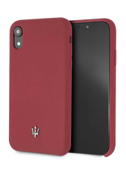 Maserati Apple iPhone XR Silicone Mobile Phone Hard Back Case Cover, Red