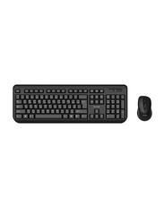 Porodo Wireless English/Arabic Keyboard with Mouse, Black