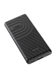 Rav Power 10000mAh 2-Port PD Pioneer Power Bank with USB Type-C Input, 18W, Black