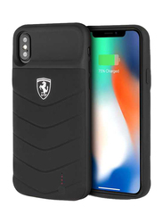 Ferrari Apple iPhone X 3600mAh Off Track Full Cover Power Rubber Back Case, Black
