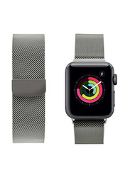 Porodo iGuard Mesh Band for Apple Watch 44mm/42mm, Silver