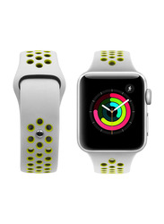 Porodo Nike Band for Apple Watch 44mm/42mm, Grey/Yellow