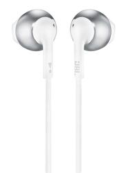 JBL Tune 205 Wired In-Ear Headphone, Chrome