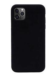Porodo Apple iPhone 11 Pro Max Alcantara Mobile Phone Back Case Cover, Black