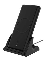 Powerology 10000mAh 2 in 1 Fast Wireless Power Bank, Black