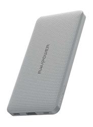 RAVPower 10000mAh Blade Series Slim Portable Power Bank, Grey