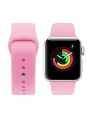 Porodo Apple Watch 44mm/42mm Silicone Replacement Watch Band, Pink