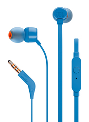 JBL Tune 110 Wired In-Ear Headphone, Blue