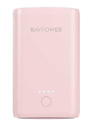 RAVPower 10050mAh Power Bank with iSmart Technology, Pink