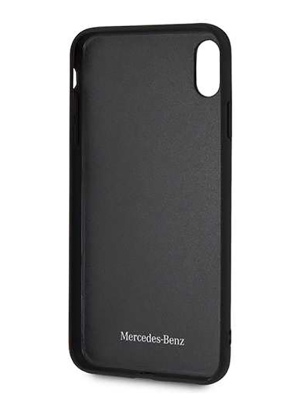 Mercedes-Benz Apple iPhone XS Max New Organic I Genuine Leather Hard Case, Black