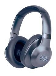 JBL T750 Wireless Over-Ear Noise-Cancelling Headphones, Blue