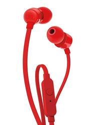 JBL Tune 110 Wired In-Ear Headphone, Red