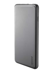 Porodo 10000mAh USB & Type-C Power Bank with Lightning Cable, Grey