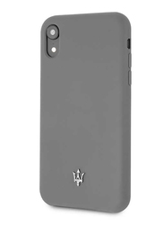 Maserati Apple iPhone XR Silicone Mobile Phone Hard Back Case Cover, Grey