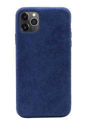 Porodo Apple iPhone 11 Pro Alcantara Mobile Back Case Cover, Blue