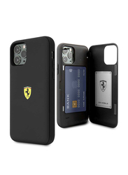 Ferrari Apple iPhone 11 Pro On Track PC/TPU Mobile Phone Case Cover with Cardslot and Magnetic Closure, Black
