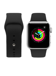 Porodo Apple Watch 44mm/42mm Silicone Replacement Watch Band, Black