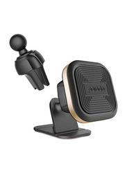 Porodo Aluminum Magnetic Car Mount, Gold