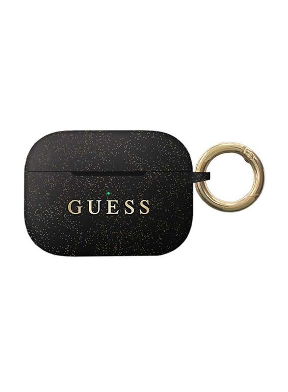 Guess Silicone Case for Apple AirPods Pro with Ring, Black