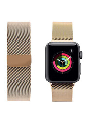 Porodo iGuard Mesh Band for Apple Watch 44mm/42mm, Gold