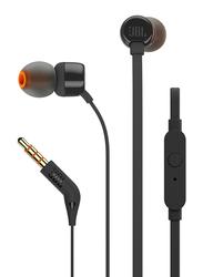 JBL Tune 110 Wired In-Ear Headphone, Black